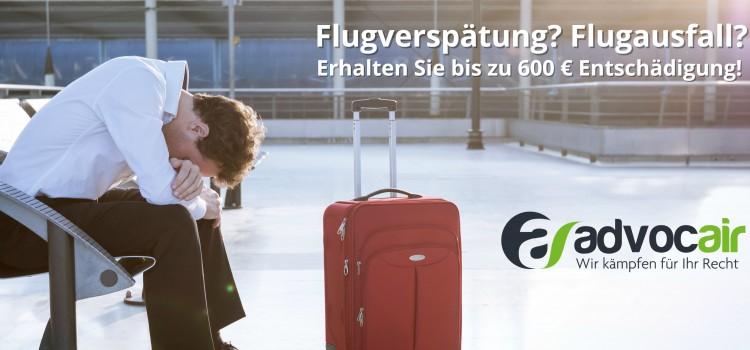Flugverspätung? Flugausfall? Jetzt bis zu 600 € sichern!